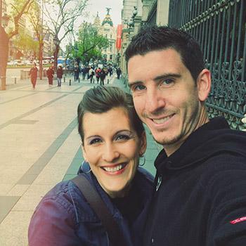 Dan and Alicia in Madrid